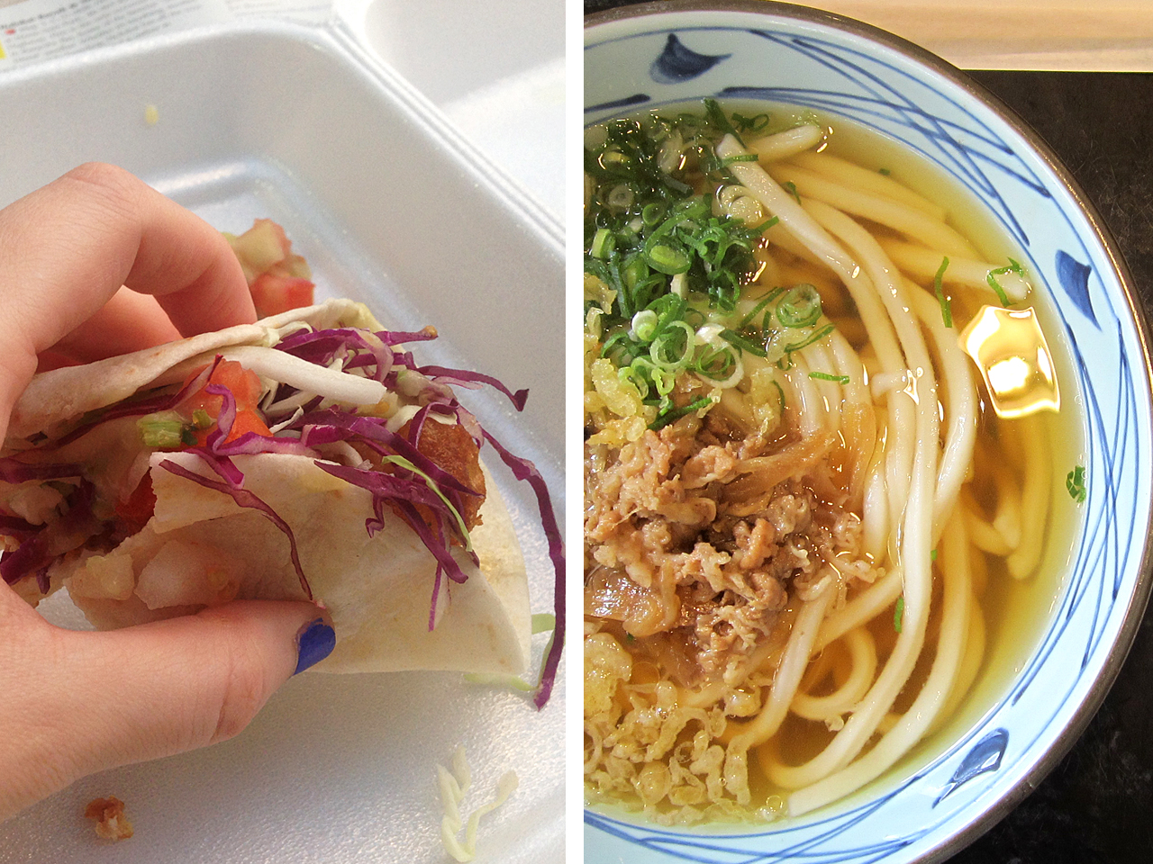We found some amazing cheap eats just off the main strip in Waikiki, our favourite taco place Surf n' Turf tacos which we frequented many times and a great udon and tempura Japanese restaurant that had fried chicken tempura!