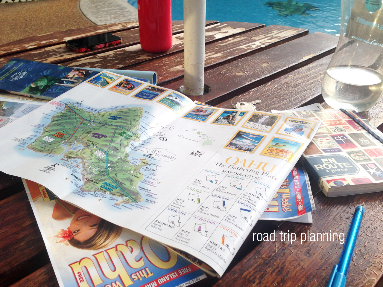 After our Pearl Harbour excursion, we had a road trip planning session for our road trip around the coast the next day!