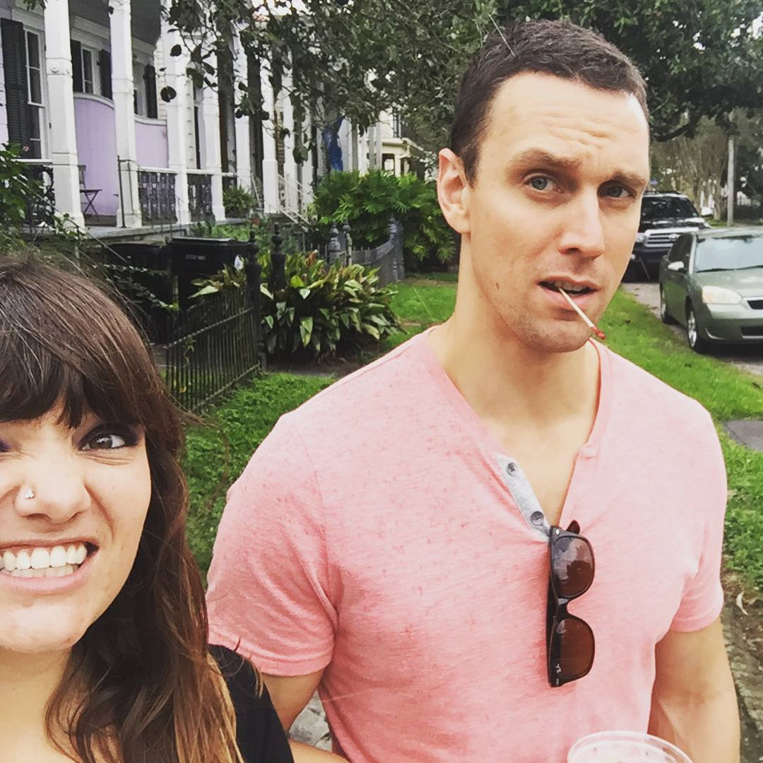 Walking and drinking in my favorite city in the world. (New Orleans)