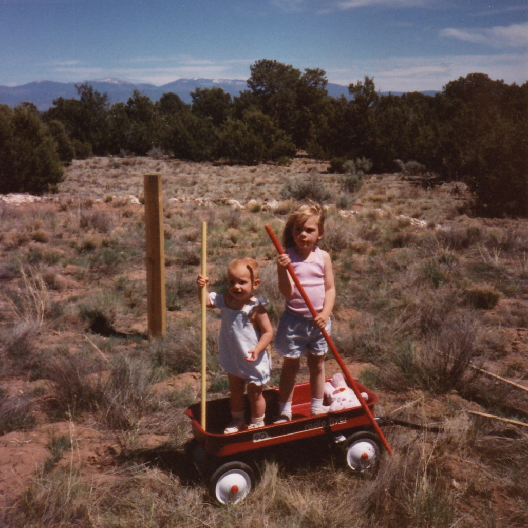 Gondoliering through cacti and sage brush with my sister. (I'm the bald one on the left.)