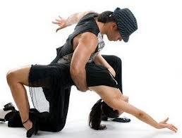 Young Couple Dance Salsa