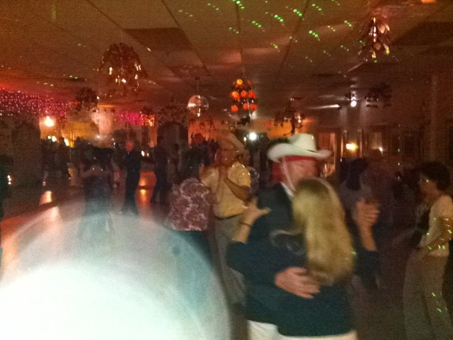 Couples dancing at Halloween dance party for adults at Quick Quick Slow Ballroom in Marlboro New Jersey.