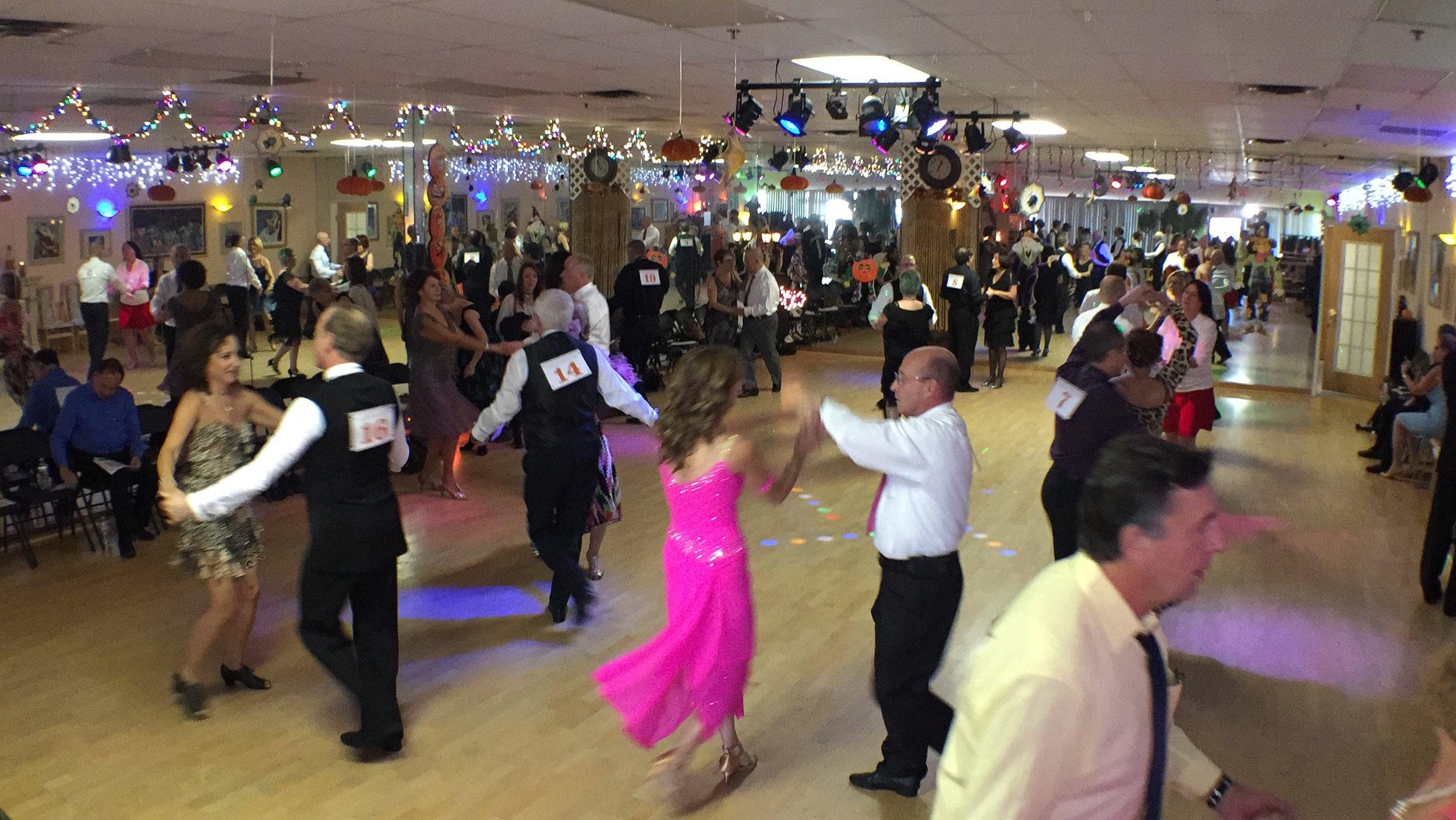 Dance couples compete at Quick Quick Slow Annual Interstudio Ballroom Battle