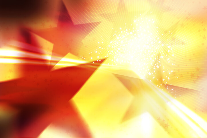 Illustration with star shapes and bright light. Dancing with the stars final four concept