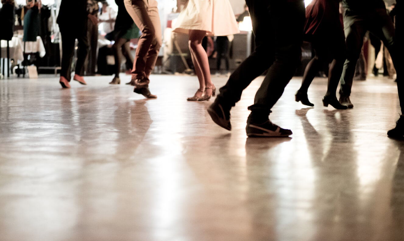 Ballroom Dancing.High-energy ballroom dance lessons or cardio workout shown from the waist down