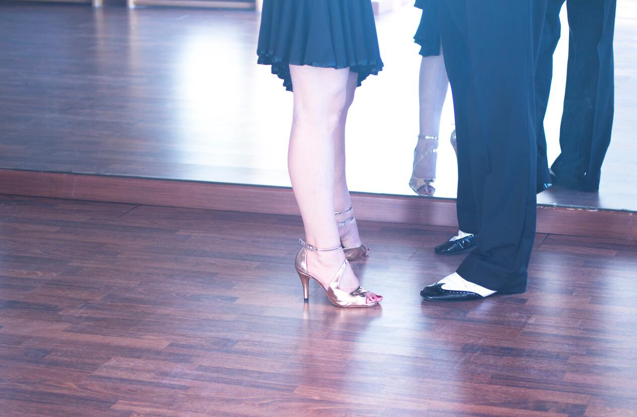 Dance Partners. Ballroom dance partners in studio school dancing lessons