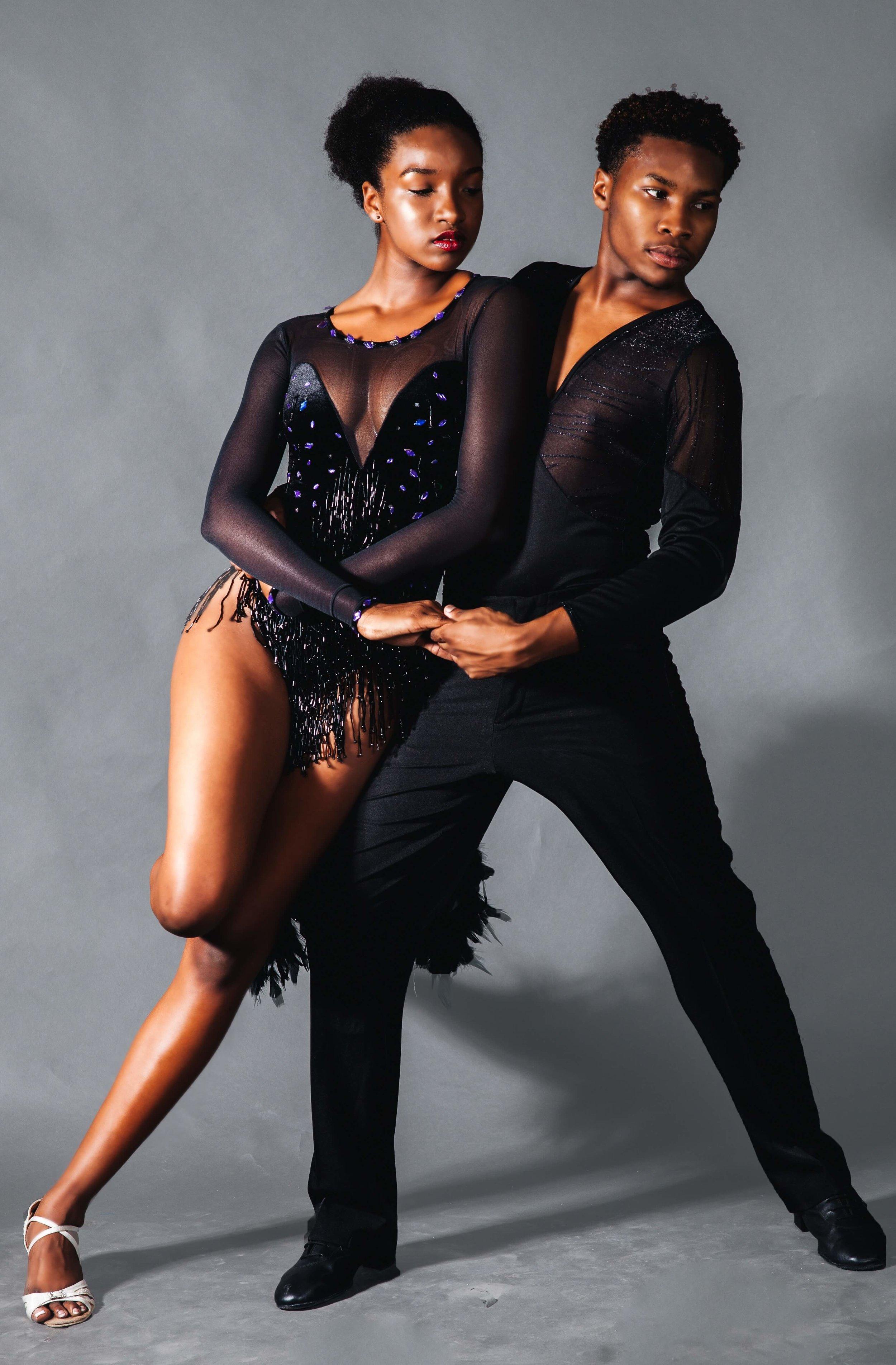 Confident ballroom dancers reaping the health benefits of ballroom dance classes