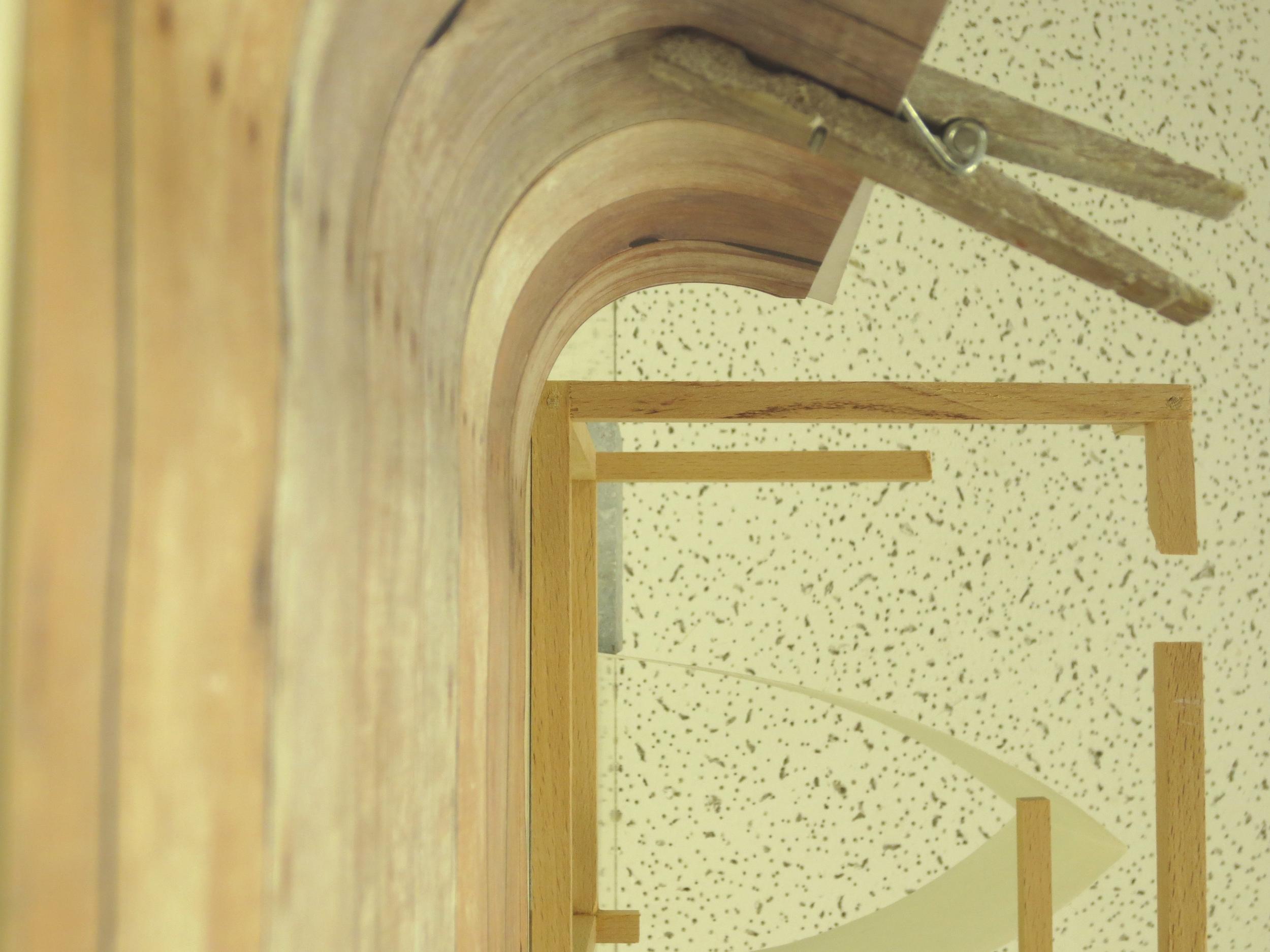 Ceiling tile, Birch, fiber glass, tile, paper, paperclip. 2013