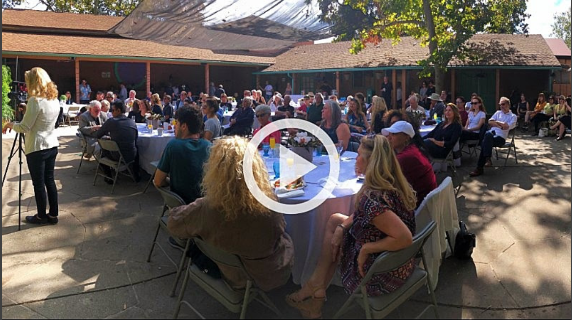 Watch this short clip of the festival's Founder and Artistic Director Steve Grumette, who gave us a wonderful introduction to the award. This award is particularly special as it truly honors Ghazwan's incredible spirit. Thank you so much Ojai!