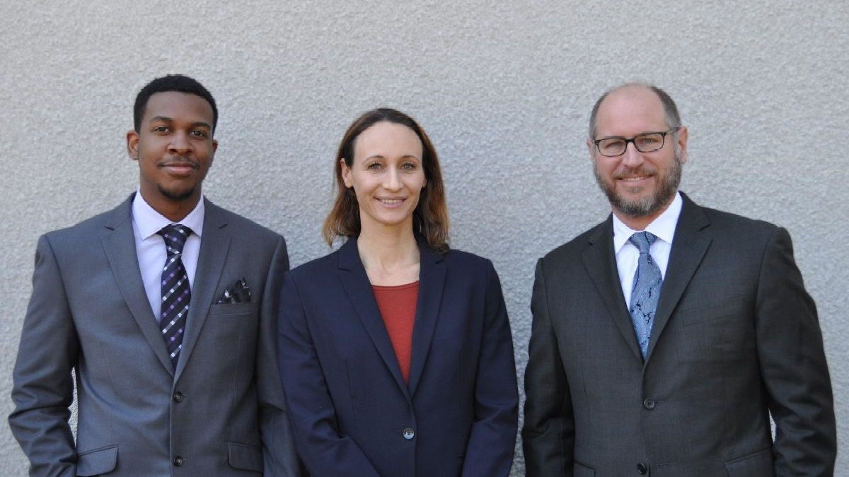 L to R: Oluwatobi Agbelemose, Kristina Martinez, and Jack Lerner from UCI's IPAT Clinic