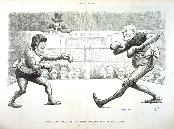 La Follette and Aldrich face off, 1910