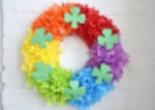 Paper Rainbow Door Wreath