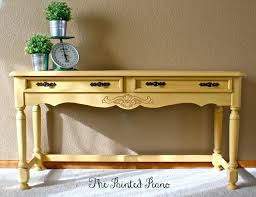 Add Yellow Crocus painted table to your entry.  Design by the Painted Piano
