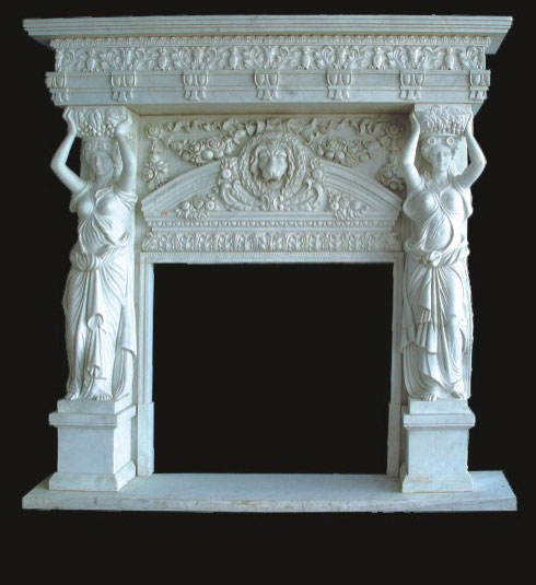 The grandeur of the marble fireplace,