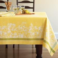 Dress with table cloth and napkins.