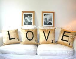 Love Pillows in a Scrabble design.