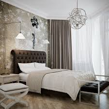 Contemporary Bedroom and layered linens.