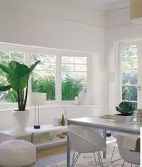 In a modern Kitchen dining area, clean lines and clean uncluttered vision - clarity.
