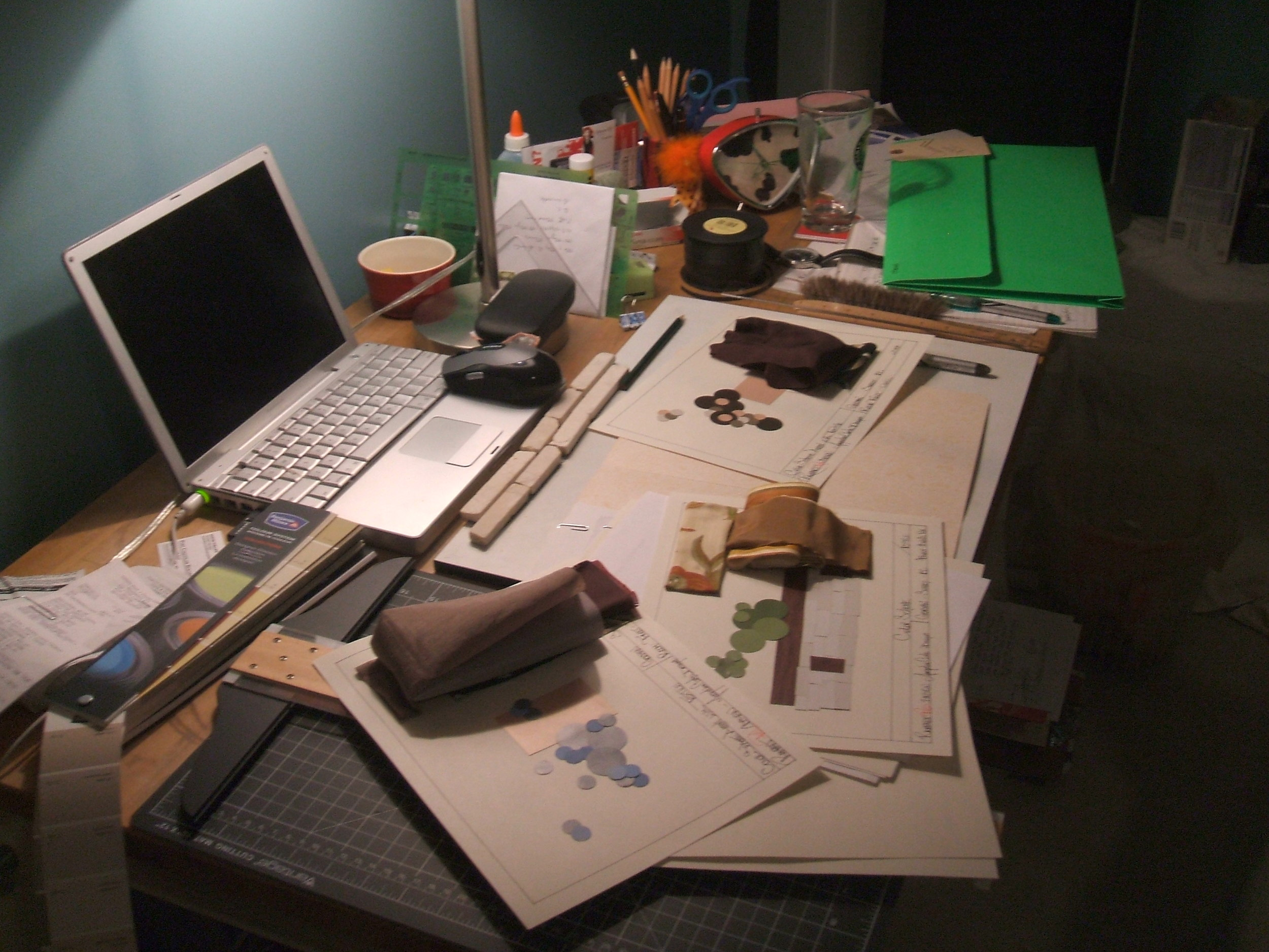 The Design desk of Rampant Red