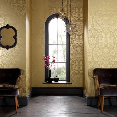 The Yellow Lounge......in Desire by Graham And Brown Wallpapers.