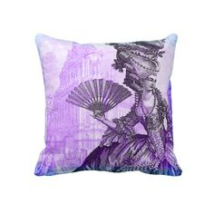 For Purple power this month....here is a vintage French pillow.