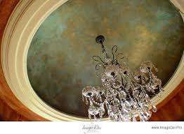 Faux Copperized Ceiling