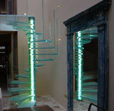 Modern Glass and lighted pole Spiral
