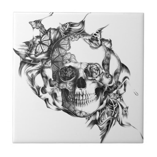 Tattoo Tile with Ink