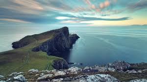 Sea off the shores of Scotland.