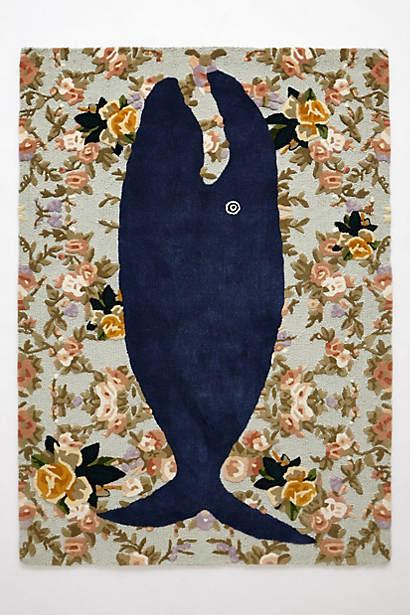 Garden whale rug