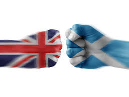 Union Jack or the  Saltire (St. Andrew's Cross)