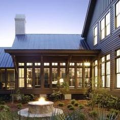 Stunning west coast metal roof, elegant yet simple.