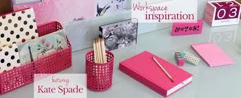 Pink Desk elements by Kate Spade can be found online at  Urban Girl