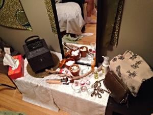 The Dressing Room, Vanity set dec created.