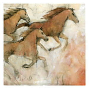Hazen Horses, on canvas