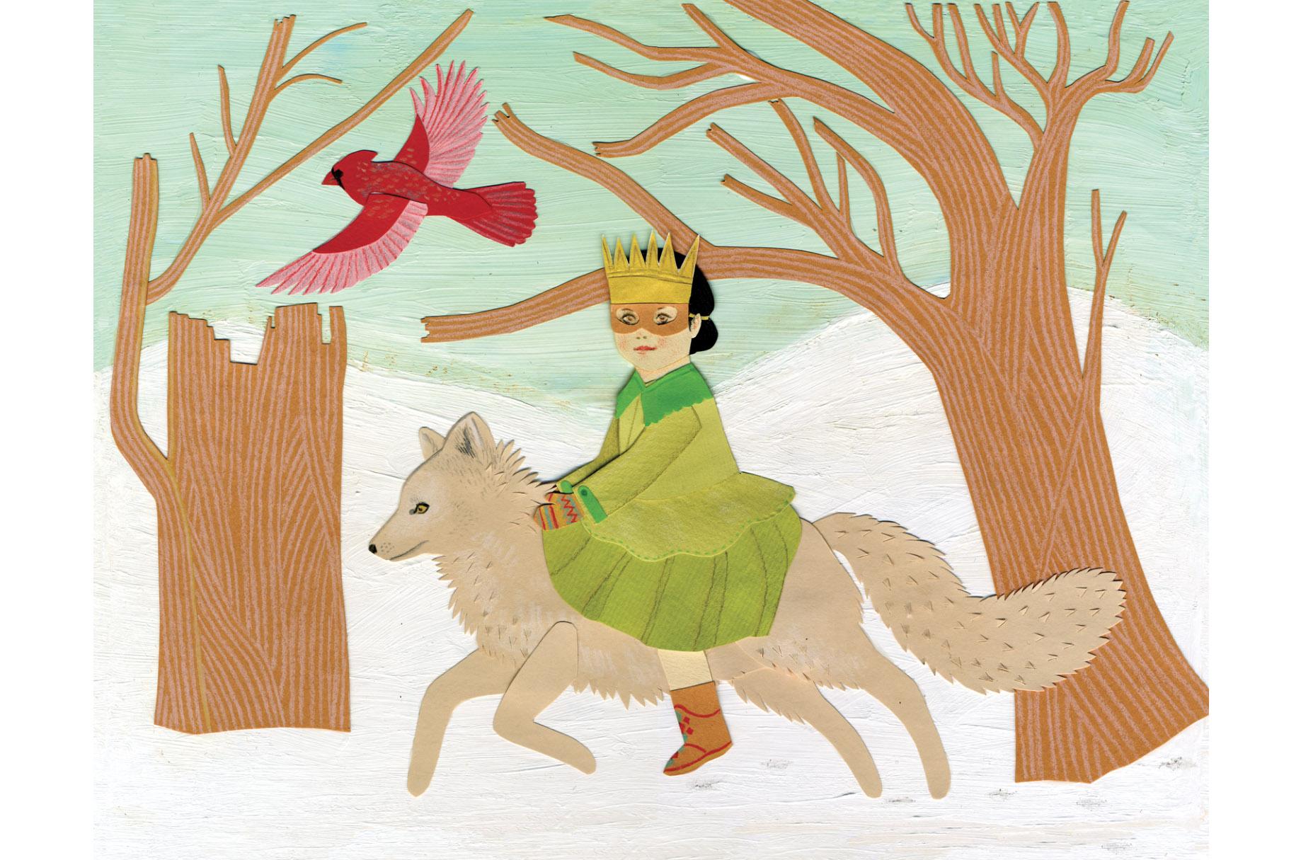 girl_arctic_fox_bird_winter_card.jpg
