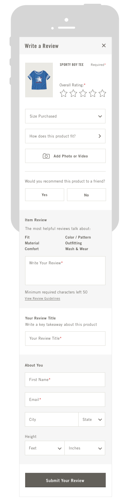 ANF Mobile Review Form
