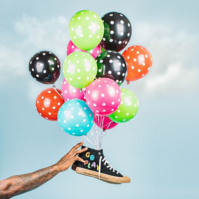 Go Play - had a blast going 'UP' for @martellusb's new @prokeds shoe! All proceeds go to @unclesmartyfoundation to help bring education and creative spaces to underserved youth.  #sneakers #sneakerhead #sneakersaddict #play #shoes #kicks #balloons #charity #education #kids