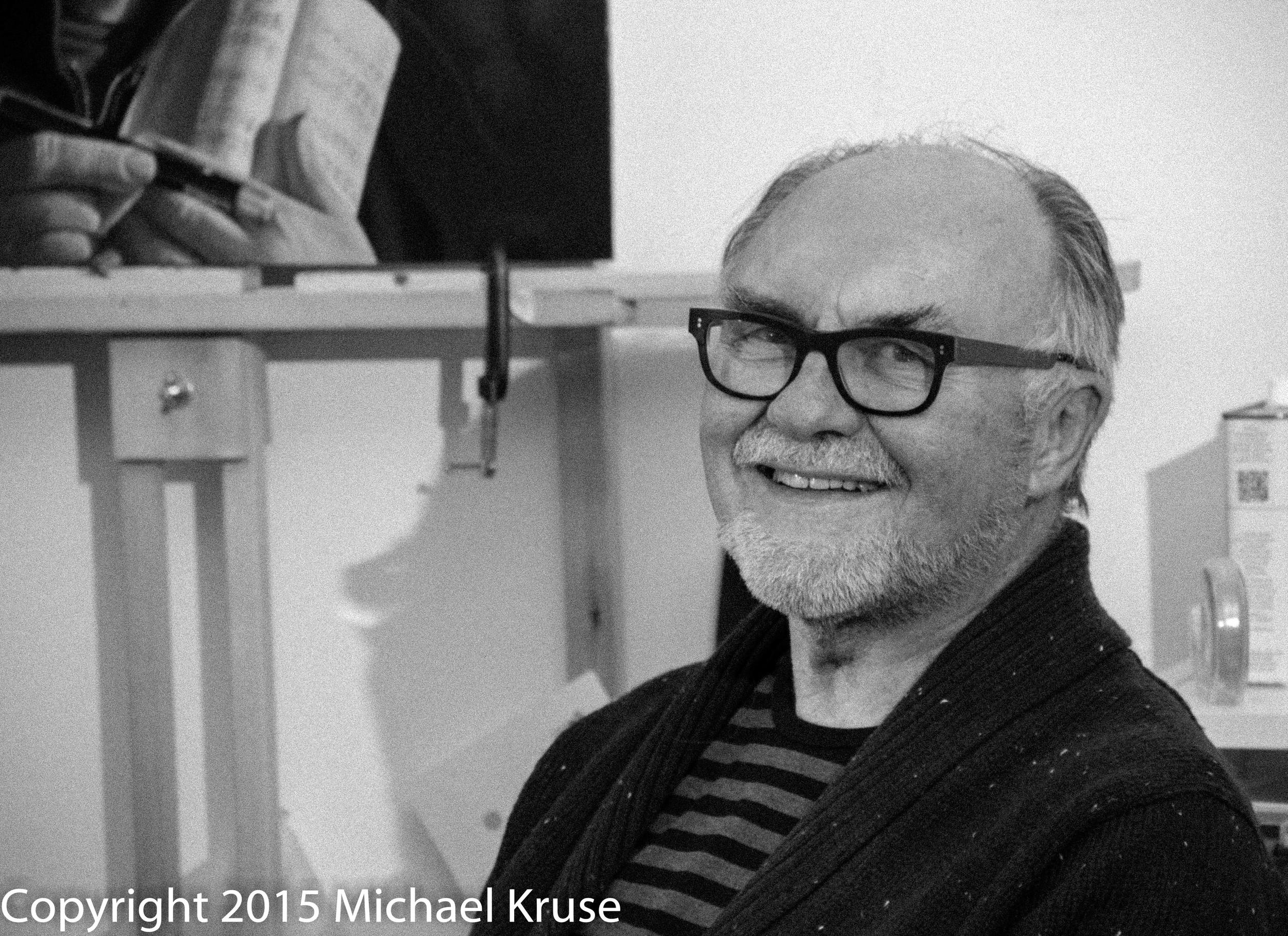 Edward Kotanen in his Studio in Hamilton Ontario
