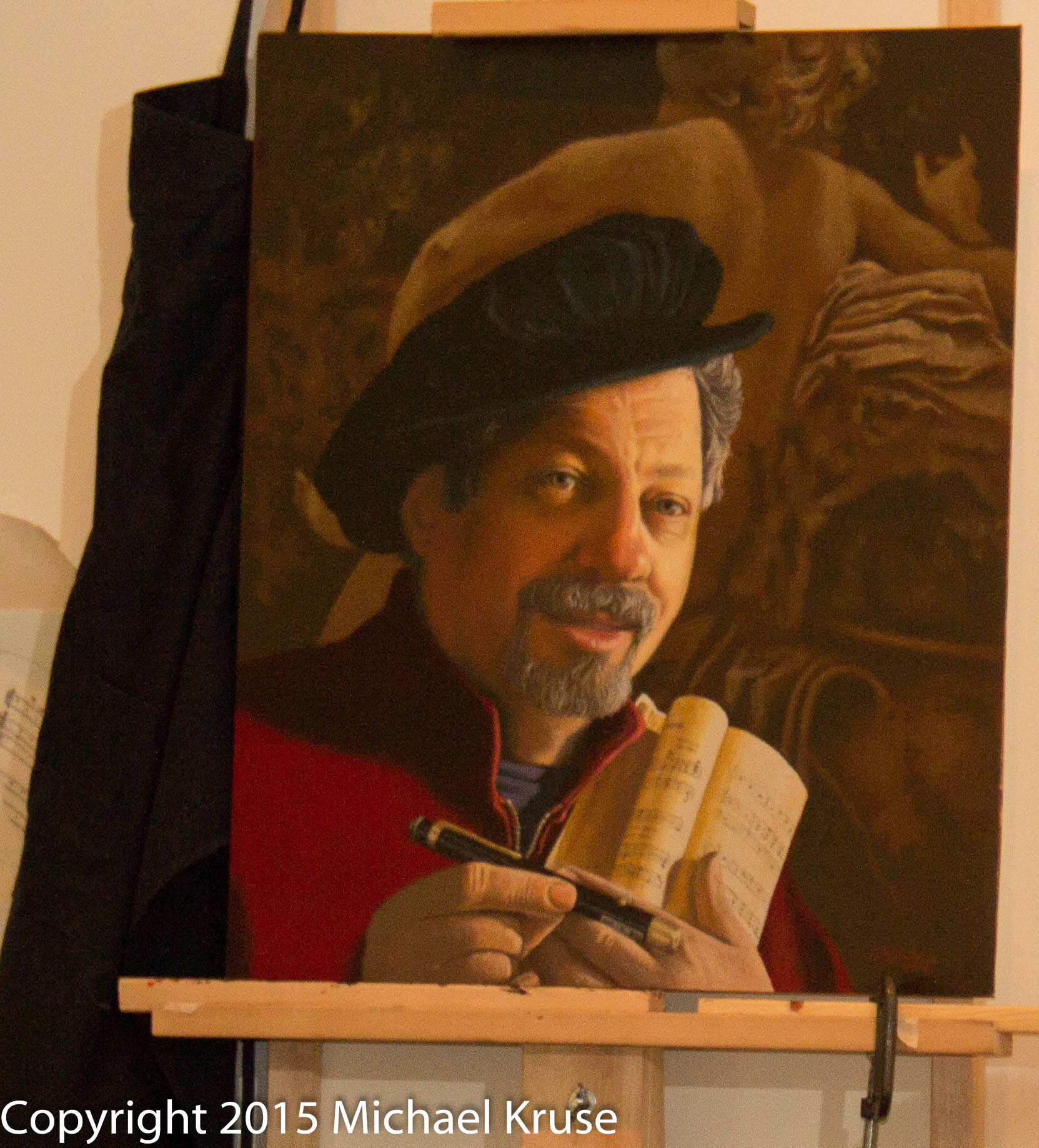 Ed's painting of his partner scenic artist David Rayfield