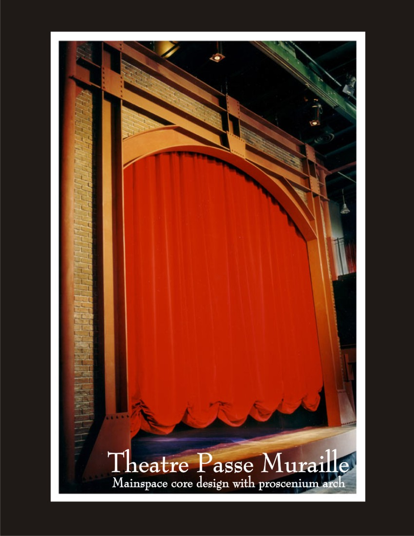 The proscenium at Theatre Passe Muraille