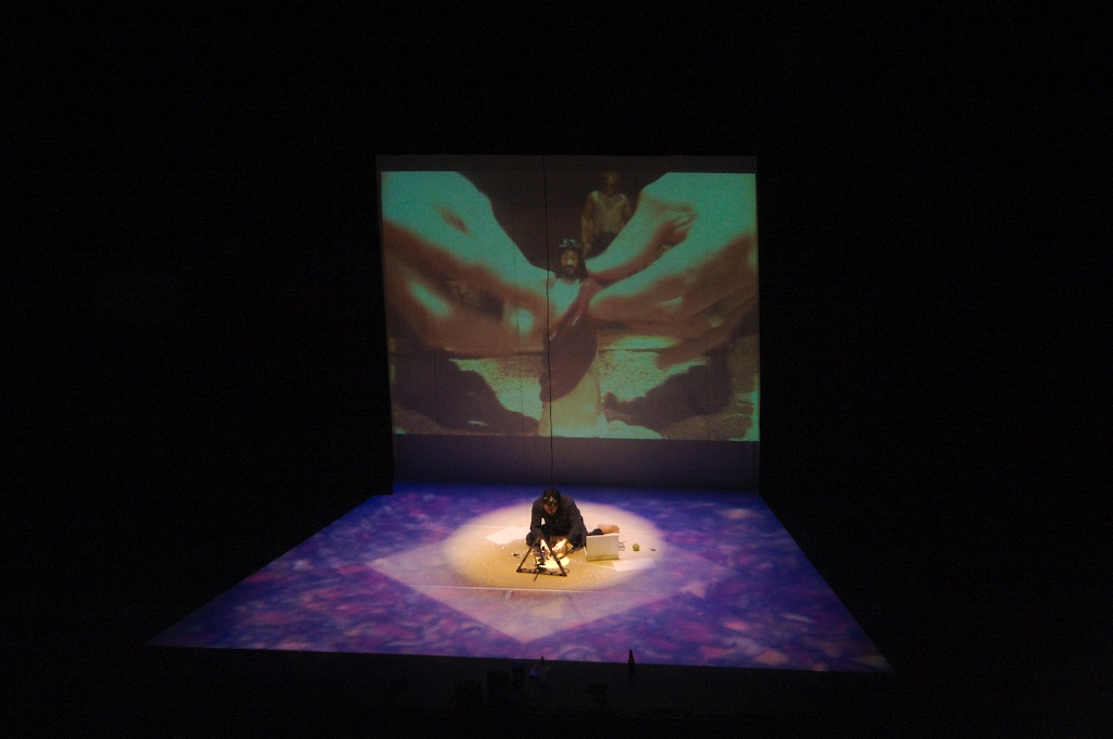 Bigger Than Jesus, by Rick Miller. Design by Beth Kates and Ben Chaisson. In Photo: Rick Miller