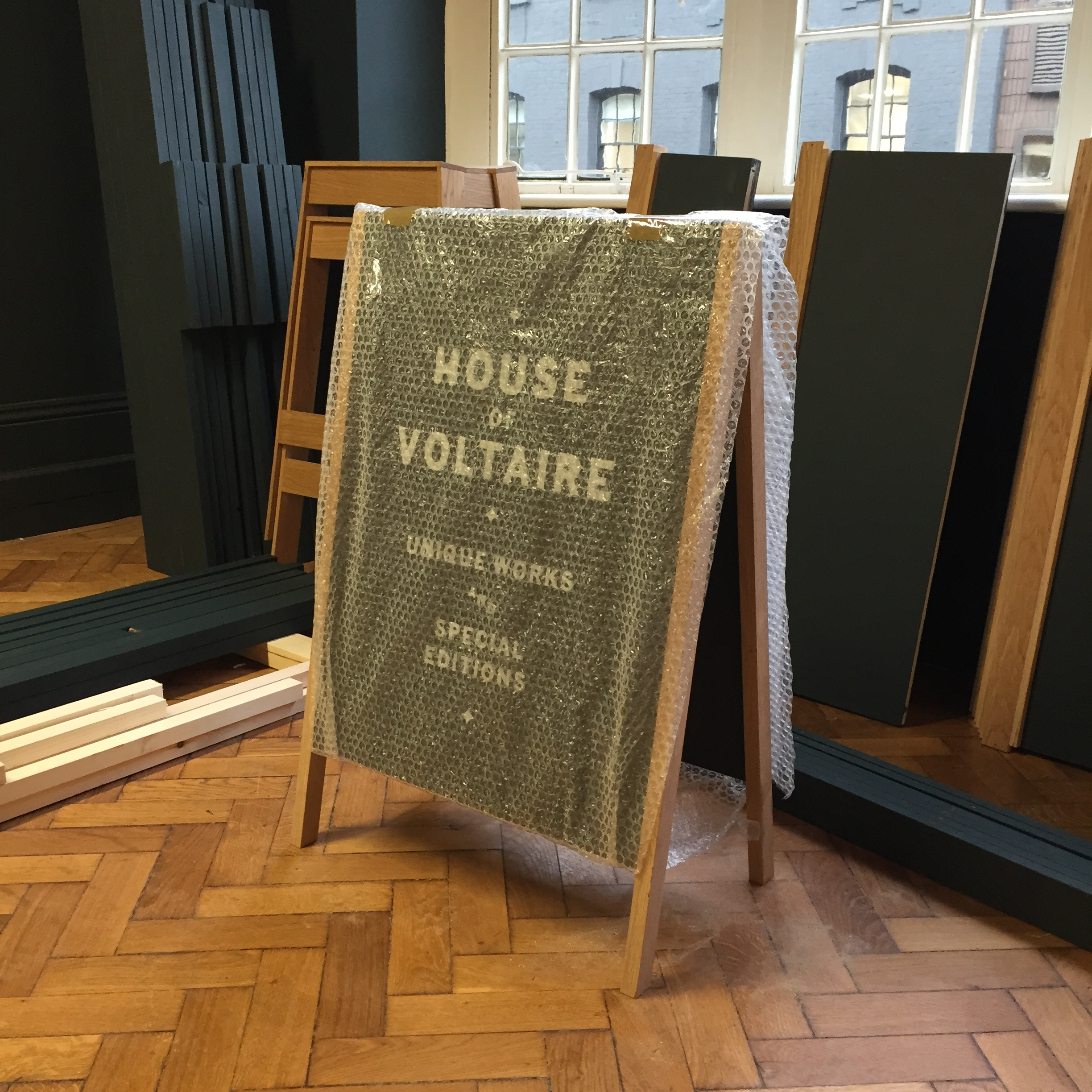 House of Voltaire  November 2014  Once again we designed and built Studio Voltaire's biannual pop up shop which opens 12th Nov at 39-40 Albermarle Street, in Mayfair, London. Support this year is from fashion house Chloé, Photos of the finished store to follow soon.