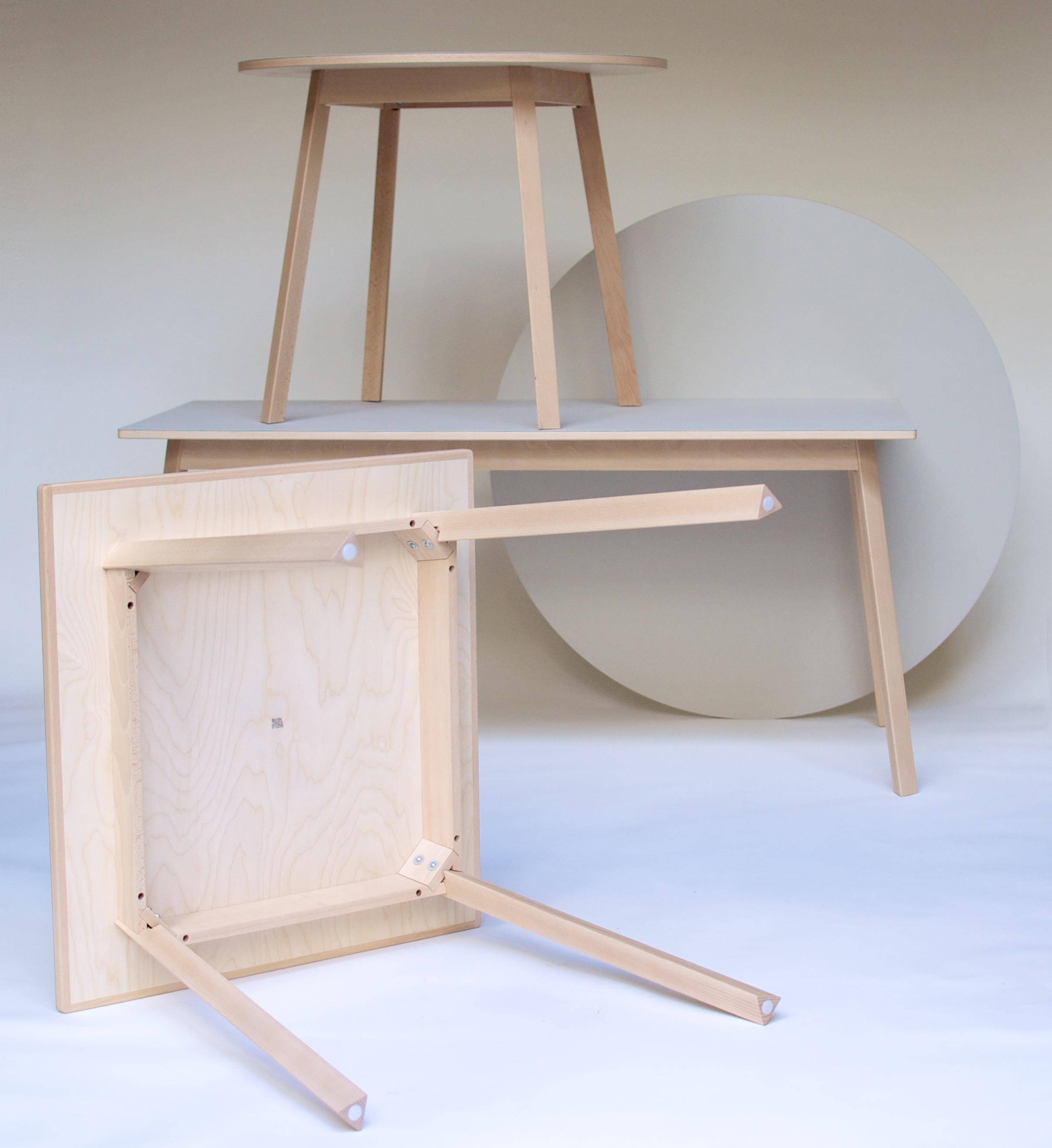 Triangular Leg Table 9