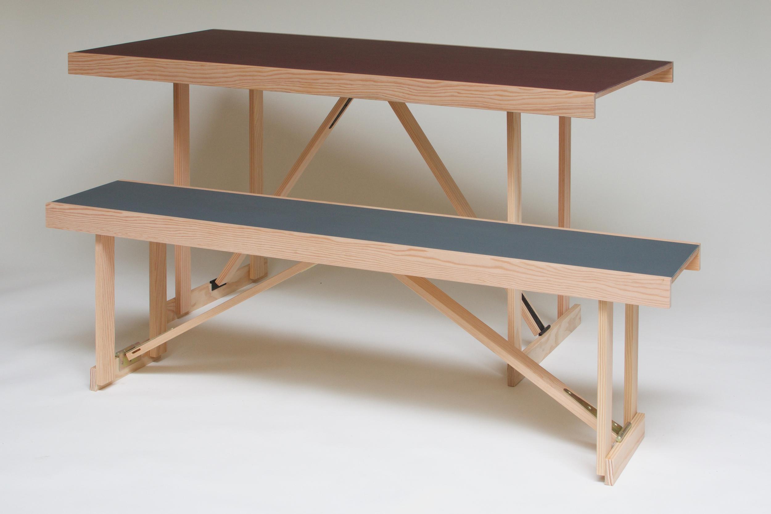 Lino Folding Table & Bench 1