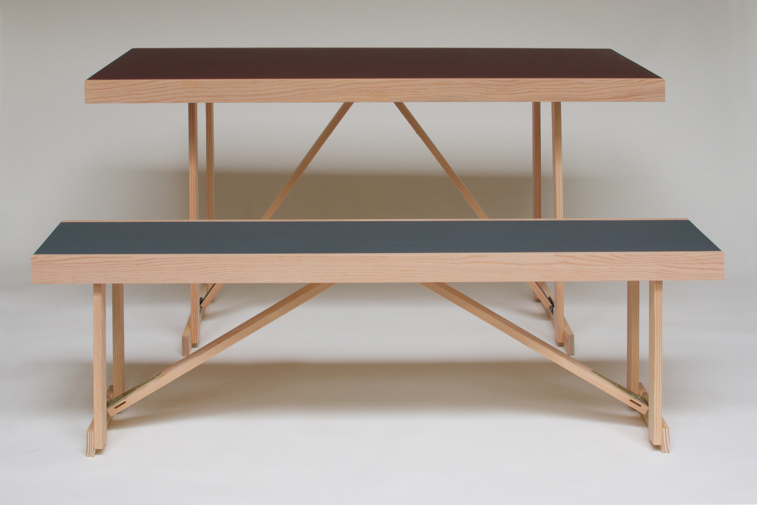 Lino Folding Table & Bench 2