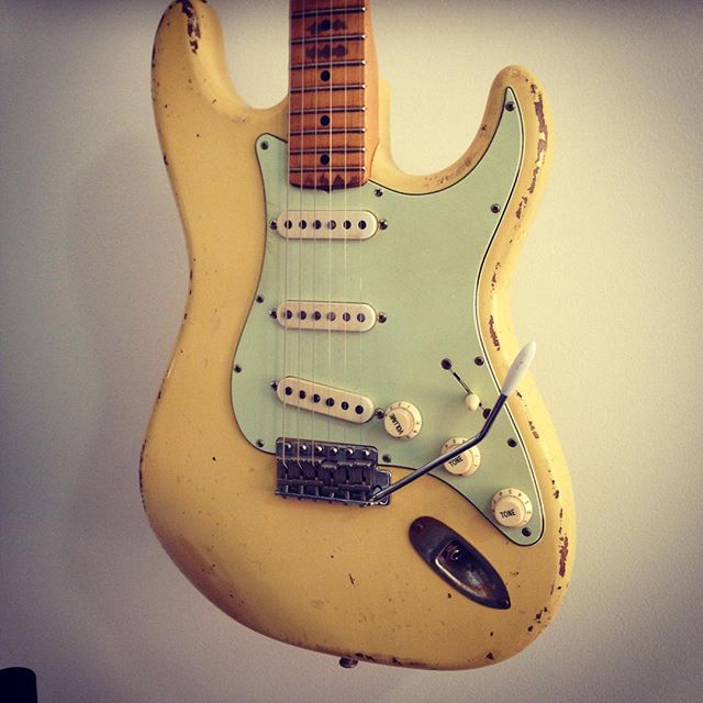 1956 Strat by Rockin Relics . Best strat in the shop . Amazing instrument. Fretted Instruments 03 9347 4833