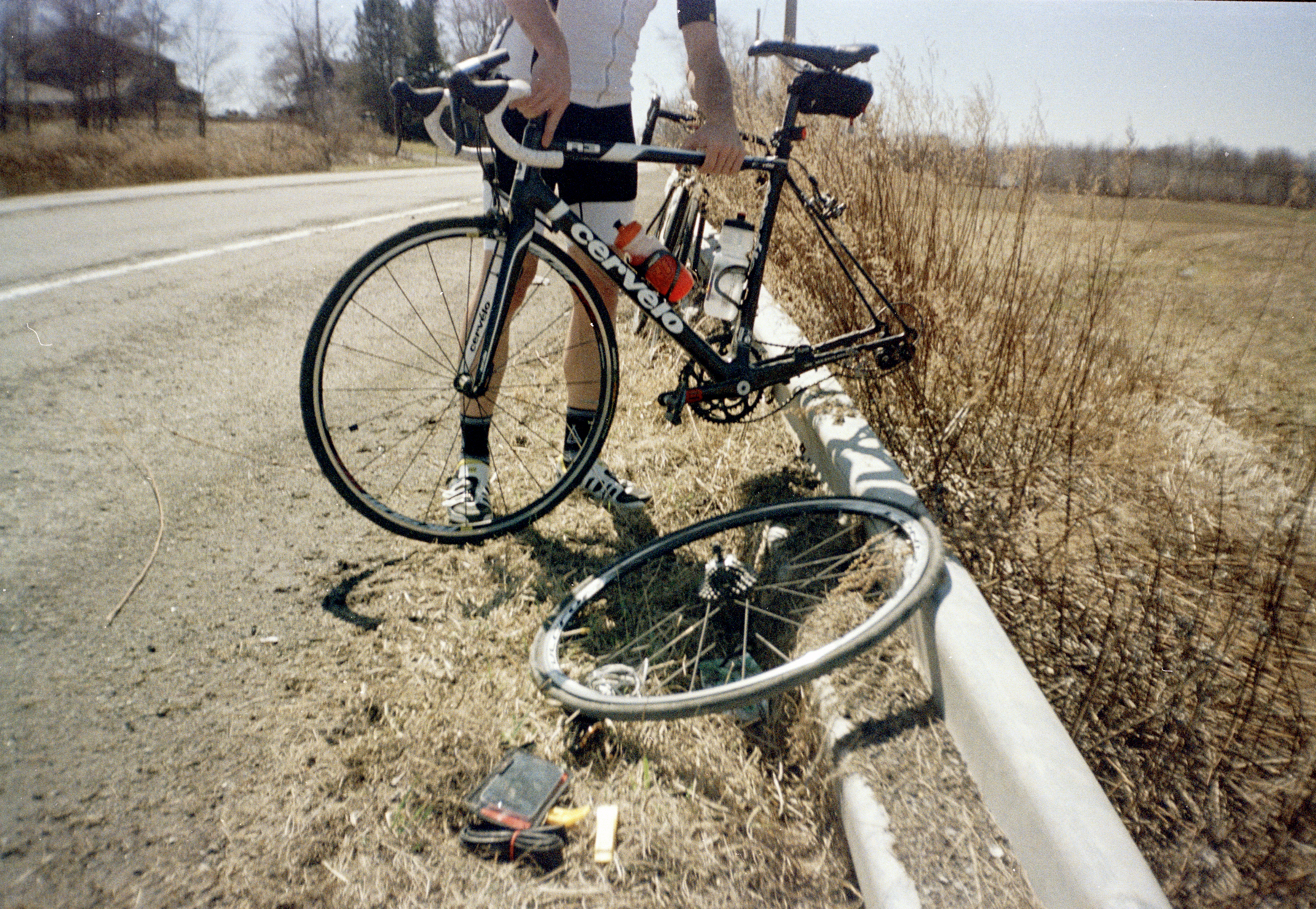 This past Sunday, Trevor and I rode 104 miles, mainly because we wanted to see if we could and because the weather was perfect. At mile 5, I got a flat. My mom gave me this point-and-shoot film camera and I found that it fit really nicely in my jersey pocket. This was my first experience using this type of camera and it was remarkable; I felt completely relaxed and found myself experimenting. I had no idea what any of the photos would look like and it was exciting to have that element of surprise.