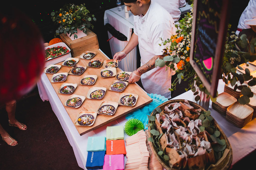 KyRy's LA Wedding Party, catering by Hungry Bear Catering Co., photography by Anna Lee