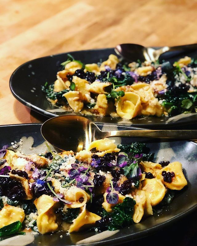Butternut squash tortellini with brown butter, sage, hazelnuts and balsamic . . . . #pasta #eeeeeats #yummy #foodie #food #catering #events #weddings